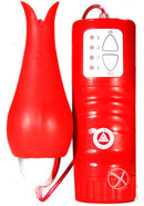 Tulip Teaser Climatic Clitoral Stimulator Red Waterproof