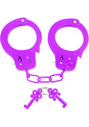 Neon Fun Metal Cuffs Purple