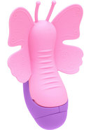 The Harlow Fluterfly Silicone Massager Pink