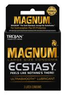 Trojan Magnum Ecstasy Ultra Smooth Lubricant Latex Condoms...