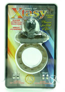 Ring Of Xtasy Elephant Series Vibrating Cock Ring - Black