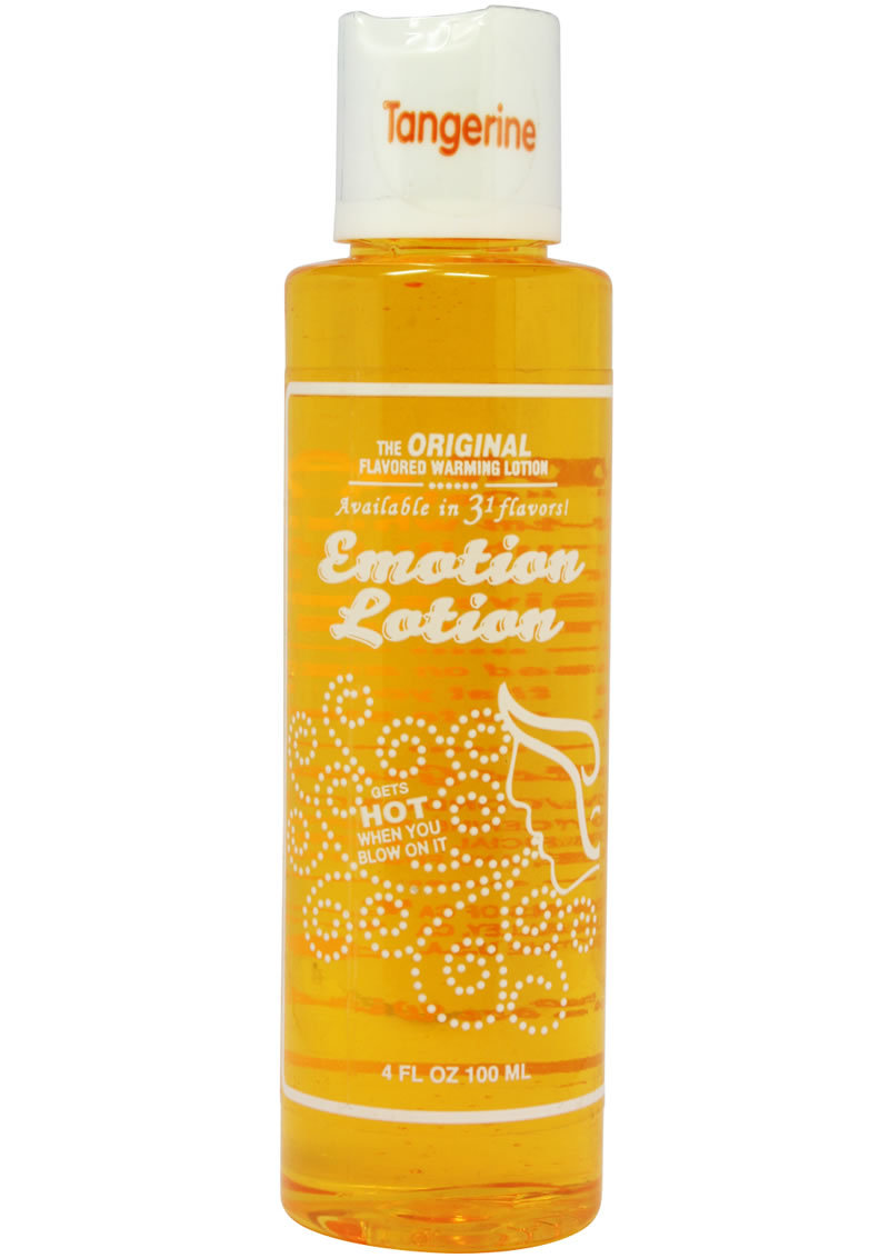 Emotion Lotion Water Based Flavored Warming Lubricant - Tangerine 4oz