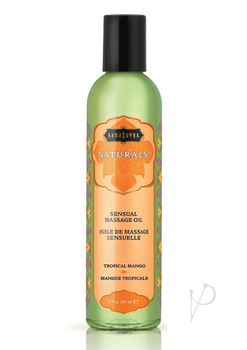 Kama Sutra Naturals Massage Oil Tropical Mango 8oz