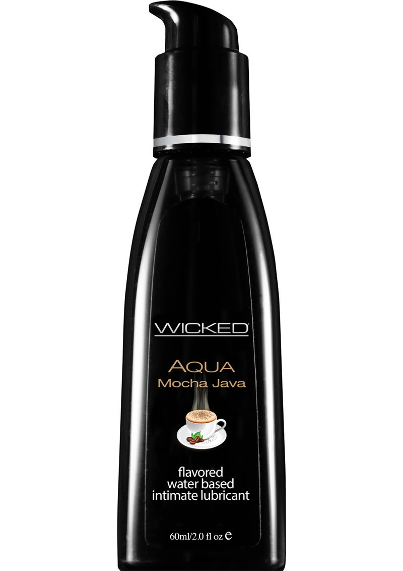 Wicked Aqua Water Based Flavored Lubricant Mocha Java 2 Ounce