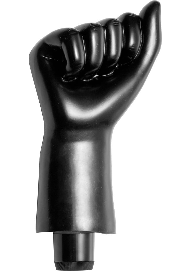 Master Series Mister Fister Vibrating Fist Black 8 Inch