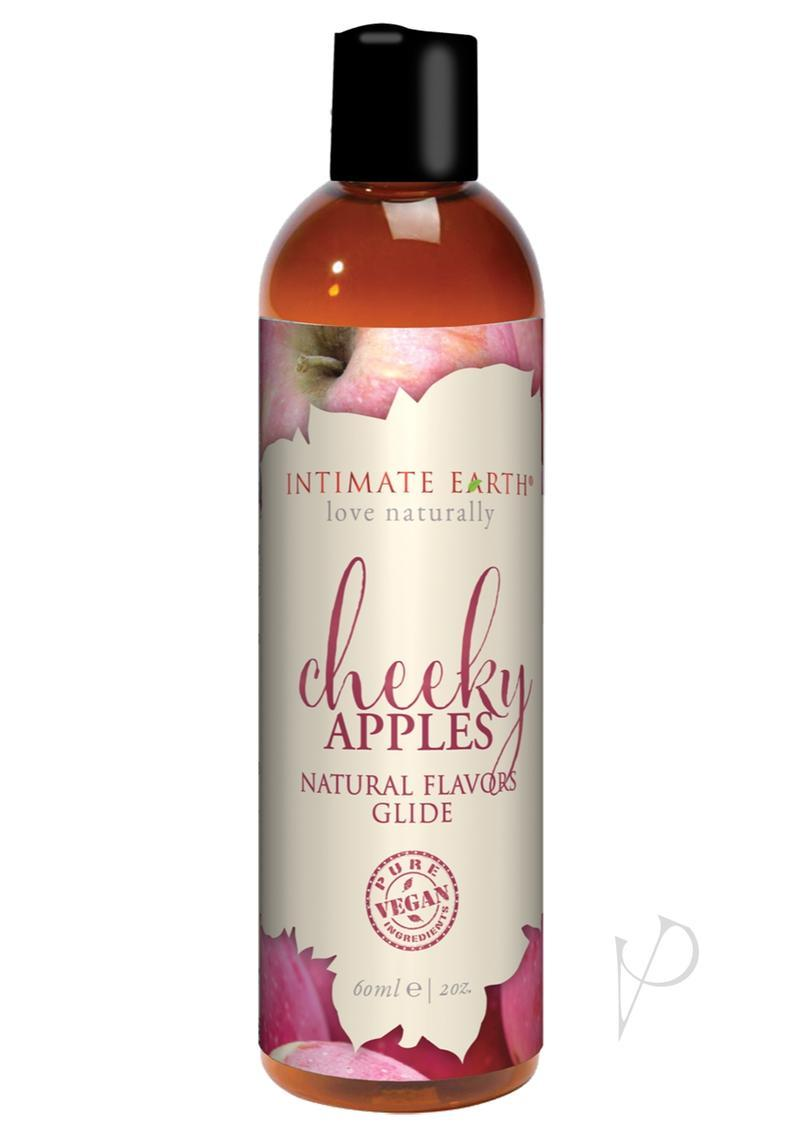 Intimate Earth Natural Flavors Glide Lubricant Cheeky Apples 2oz