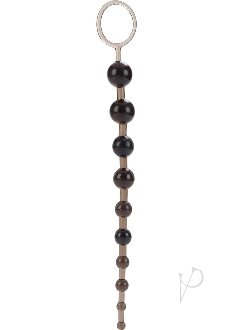 X 10 Beads Graduated Anal Beads 11 Inch Black
